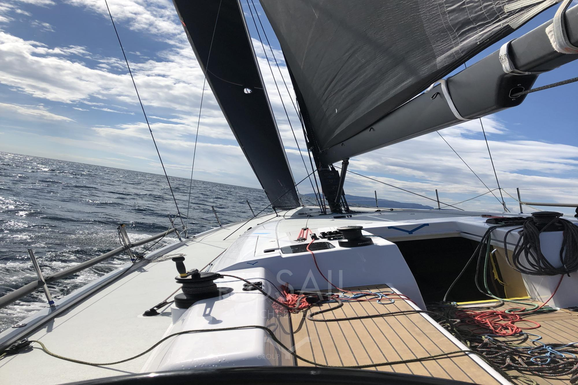Prima Vista riding Sardinia waves!