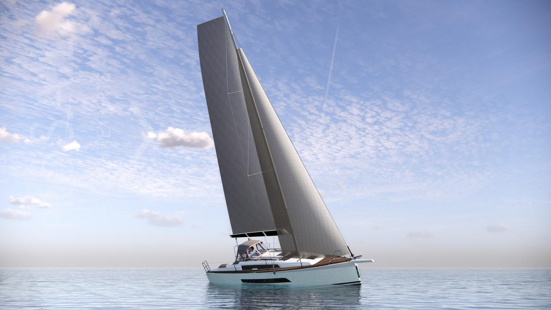 Dufour 32: an innovative 32-foot sailing boat laden with intelligent features